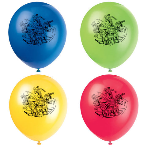 "Justice League 12"" Latex Balloons, 8ct."