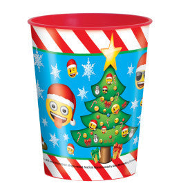 Emoji Christmas Party Plastic Cup