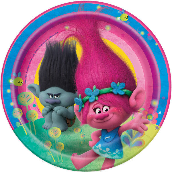 Trolls Lunch Plates, 8ct.