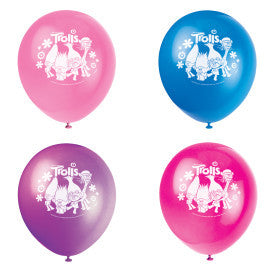 "Trolls 12"" Latex Balloons, 8ct."