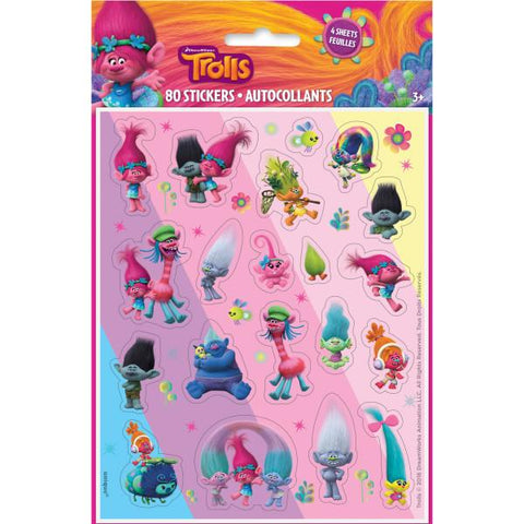 Trolls Sticker Sheets, 4ct.
