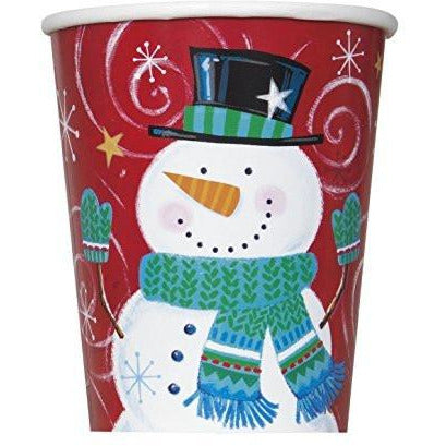 Snowman Swirl Holiday Party 9oz Cups - Sakura Toyland, Inc