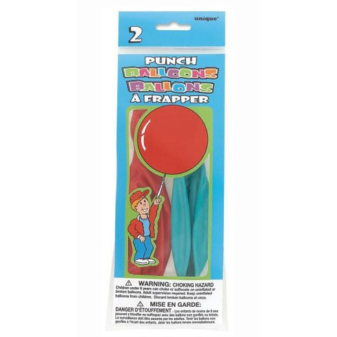 Punch Balloons Assorted Colors, 2ct.