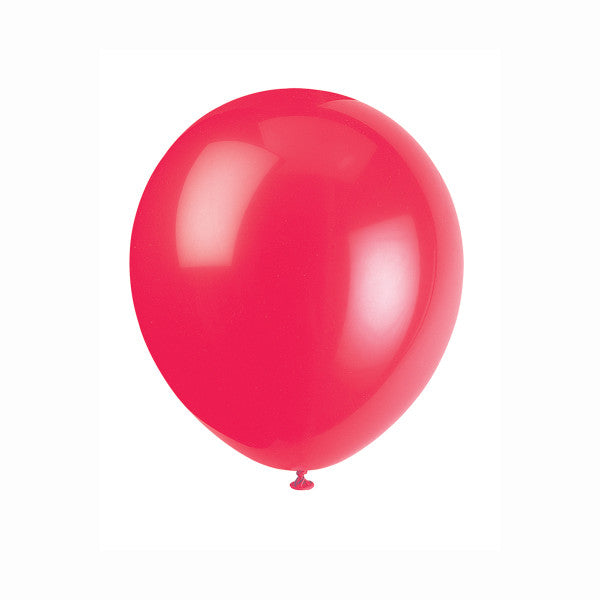 "Latex 12"" Balloons Ruby Red 72ct."