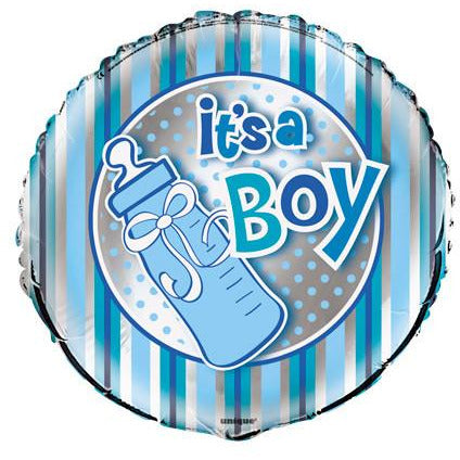 It's a Boy Bottle Foil Balloon - Sakura Toyland, Inc