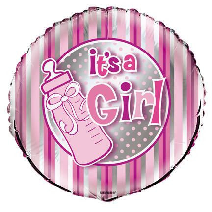 It's a Girl Bottle Foil Balloon - Sakura Toyland, Inc
