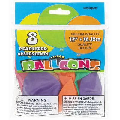 Assorted Colors Pearlized Balloons - Sakura Toyland, Inc