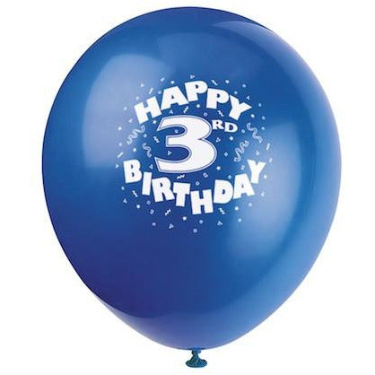 Happy 3rd Birthday Balloons - Sakura Toyland, Inc