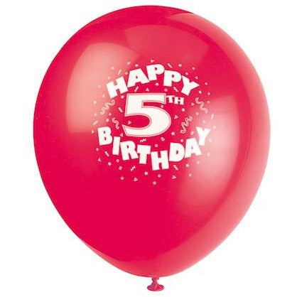 Happy 5th Birthday Balloons - Sakura Toyland, Inc