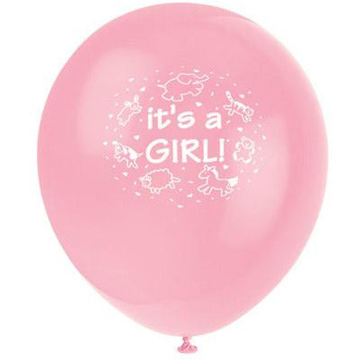 It's a Girl Pink Balloons - Sakura Toyland, Inc