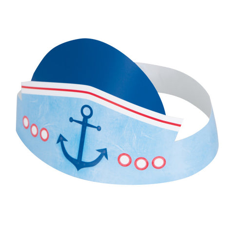 Little Sailor Nautical First Birthday Party Hats, 6ct