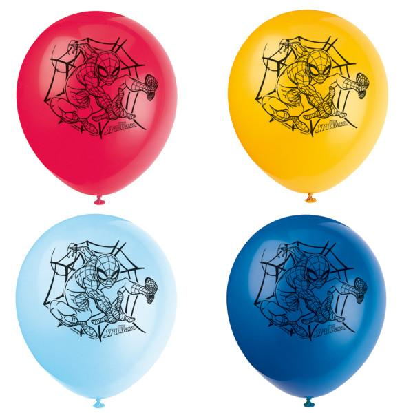 "Spider-Man 12"" Latex Balloons, 8ct"