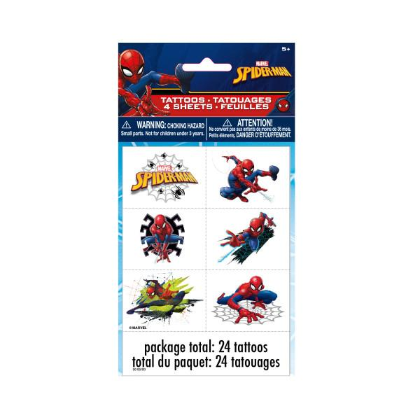 Spider-Man Color Tattoo Sheets, 4ct