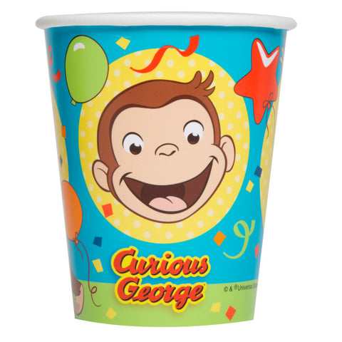 Curious George 9oz Paper Cups, 8ct