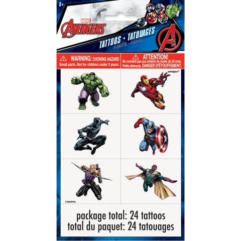 Avengers Color Tattoo Sheets, 4ct