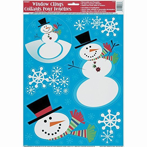 Stellar Snowmen Window Clings - Sakura Toyland, Inc