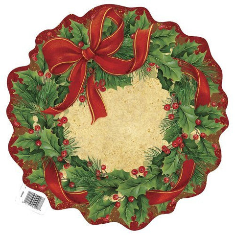 Paper Cut Out Ribbon Wreath Holiday Decoration - Sakura Toyland, Inc