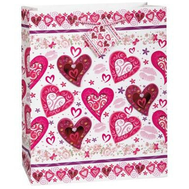 Lots of Hearts Large Gift Bag - Sakura Toyland, Inc