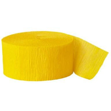 Crepe Streamer Hot Yellow - Sakura Toyland, Inc