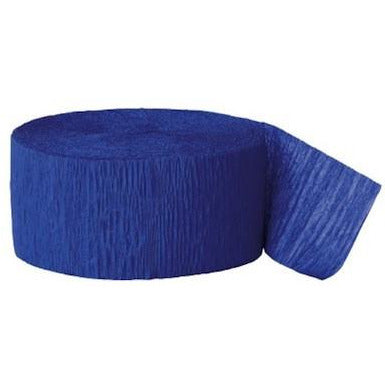Crepe Streamer Royal Blue - Sakura Toyland, Inc