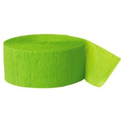Crepe Streamer Lime Green - Sakura Toyland, Inc