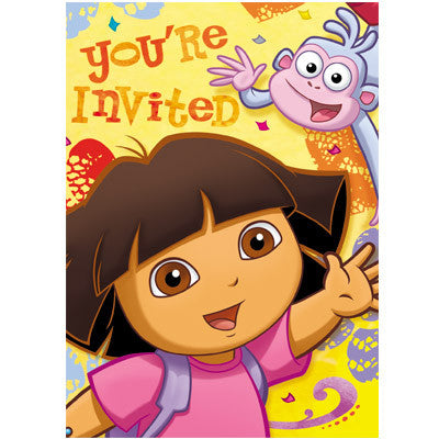 Dora The Explorer Party Invitations
