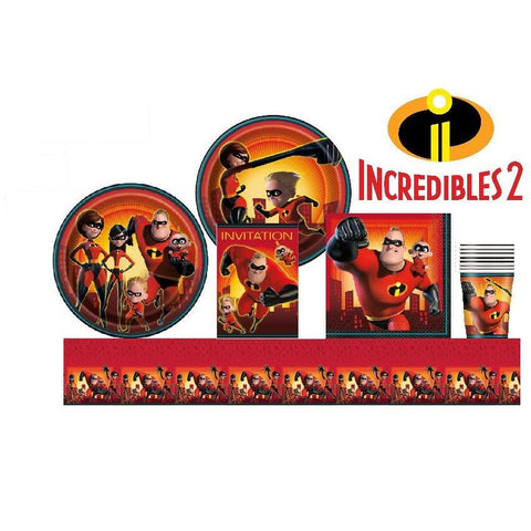 Incredibles 2 Birthday Party Supplies Pack 8 Guests
