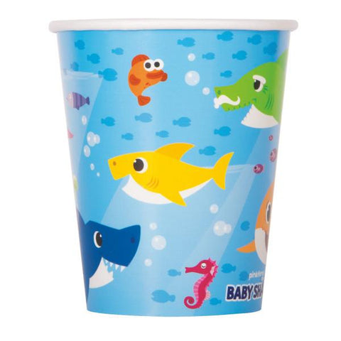 Baby Shark 9oz Paper Cups, 8ct