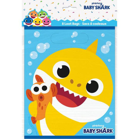 Baby Shark Loot Bags, 8ct
