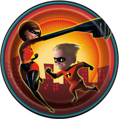 "Disney The Incredibles 2 Round 7"" Dessert Plates, 8ct"