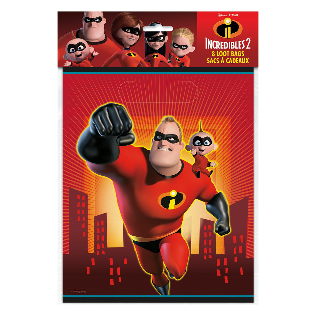 Disney The Incredibles 2 Loot Bags, 8ct