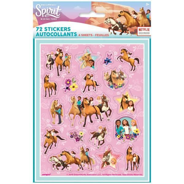 Spirit Riding Free Sticker Sheets, 4ct