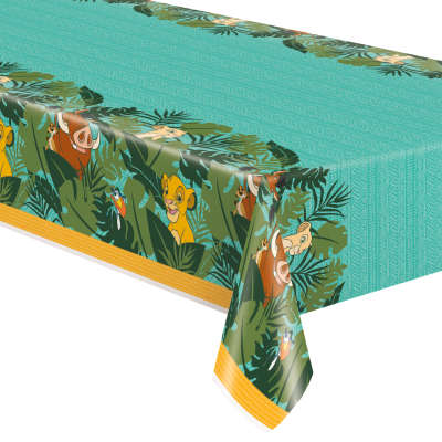 "Disney Lion King Rectangular Plastic Table Cover, 54""x84"""