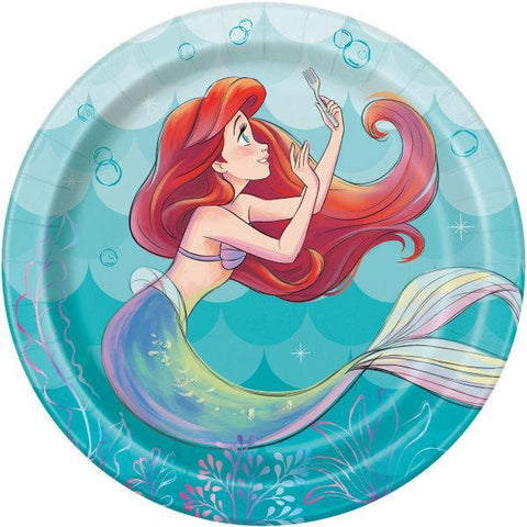"Disney The Little Mermaid Round 7"" Dessert Plates, 8ct"