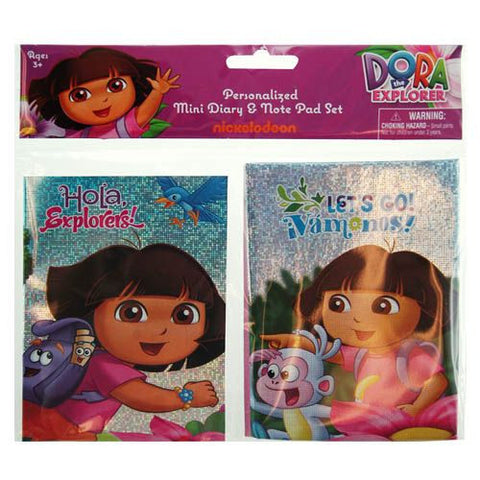 Dora The Explorer Mini Diary & Note Pad Set