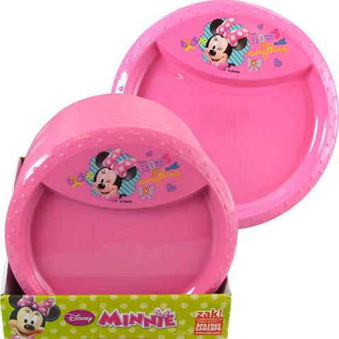 Minnie Mouse Bowtique Diamond Rim Plate - Sakura Toyland, Inc