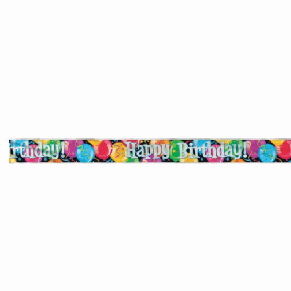 Bravo Birthday Foil Banner, 12 ft