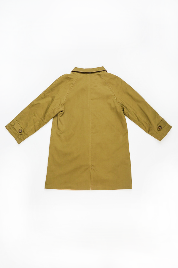 OLIVE COTTON TRENCH