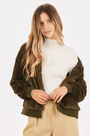 Plush Faux Fur Jacket
