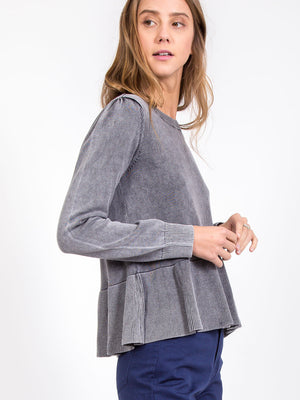 The Meadow Peplum Sweater