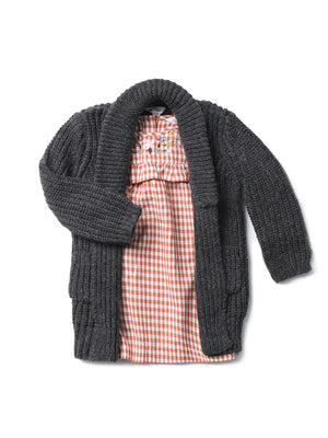 (Kids) Patch pocket Cardigan
