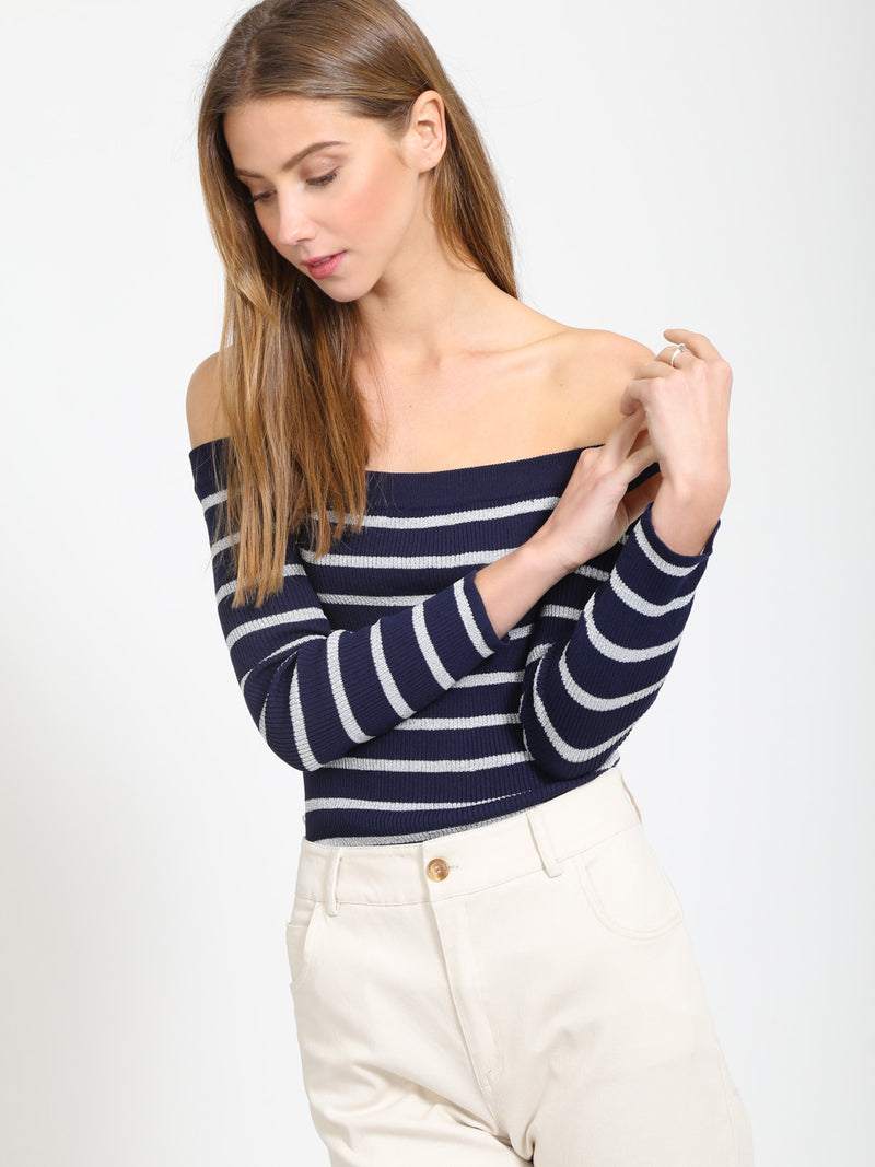 The Lyndon Off Shoulder Sweater