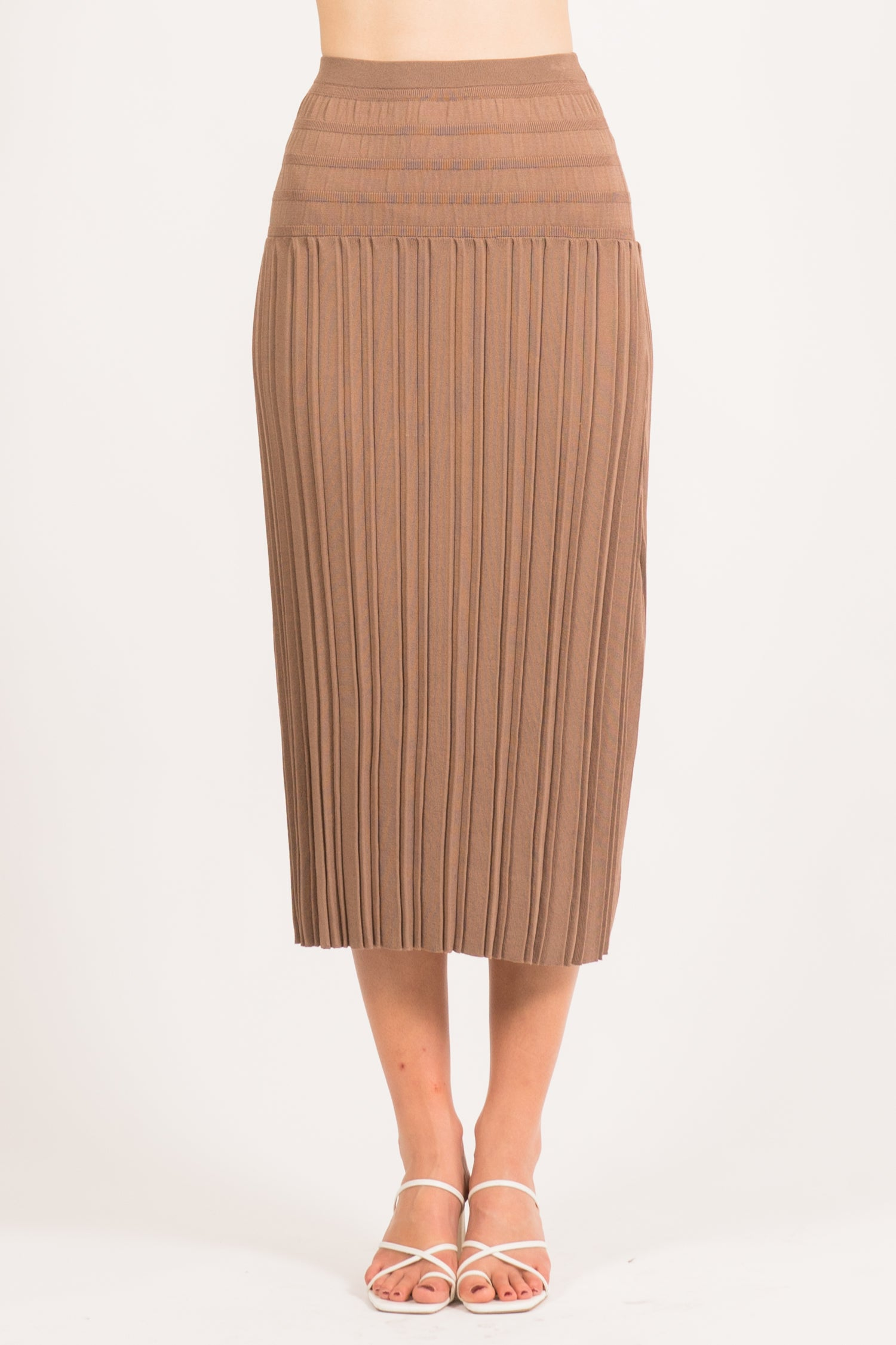 Corey Pleated Maxi Skirt
