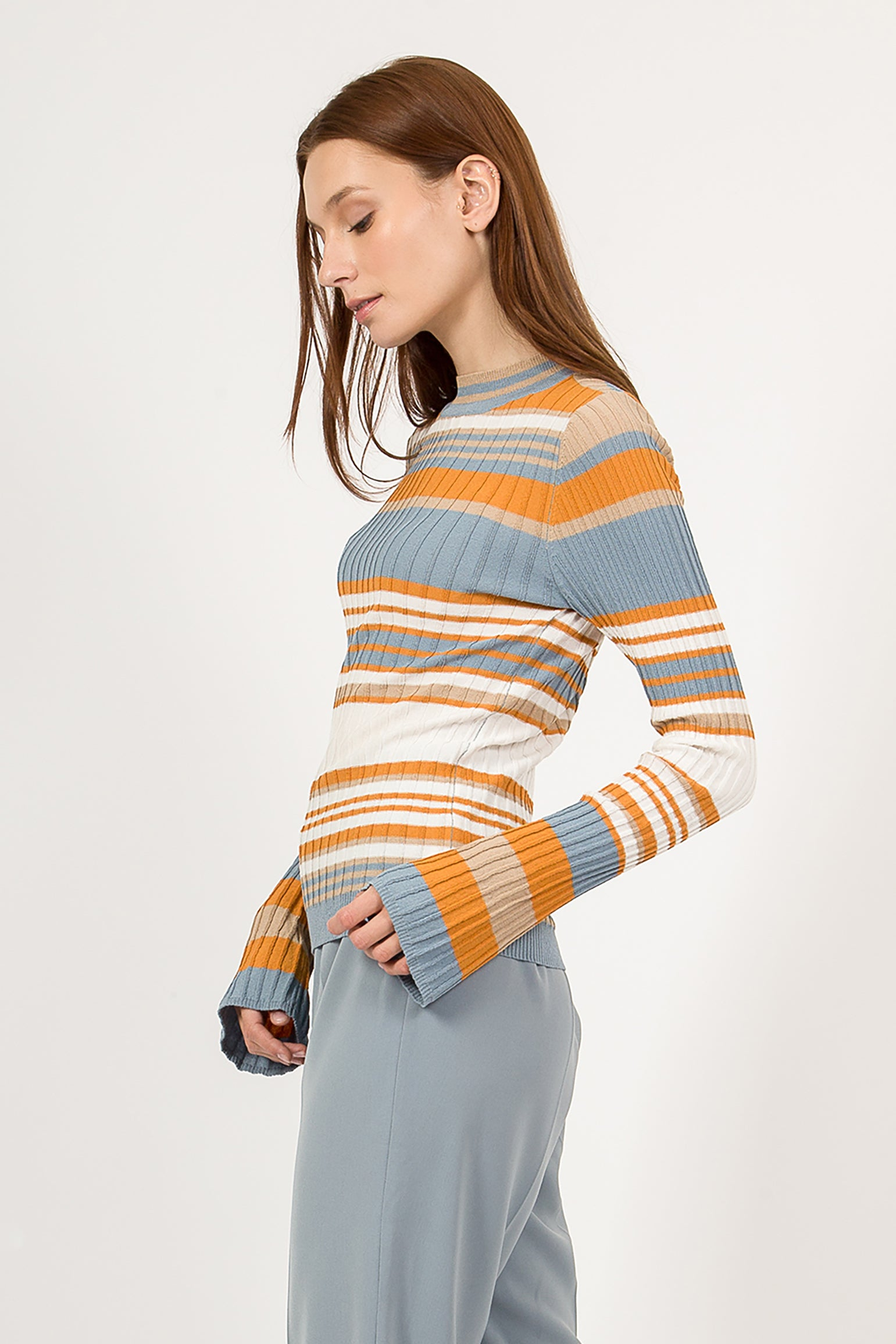 KELLY RIBBED KNIT TOP