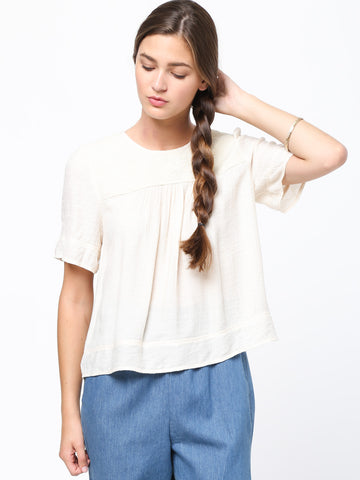 Half sleeved peasant top