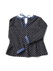 (Kids) Cont waist & neck band blouse