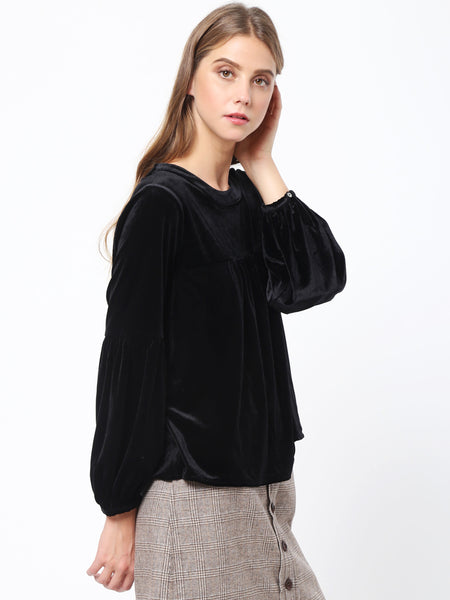 Sleeve Shirring Detail Top