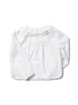 (Kids) Pleated collar shirt