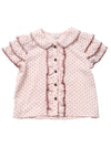 (Kids) Ruffled Sleeve Round Collar Top