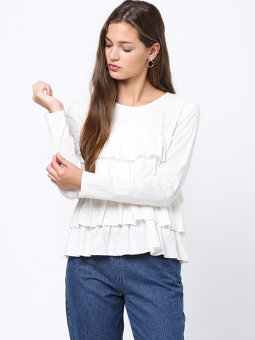 Ruffled Tiered top